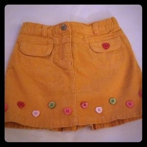 Gymboree corduroy skirt, girls size 4